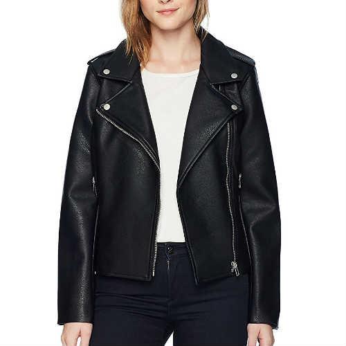 amelie moto, bb dakota, black jacket, faux leather jacket, jacket, moto jacket, vegan jacket