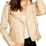biker jacket, blank nyc jacket, blanknyc, cream jacket, faux leather, faux leather jacket, jacket, leather jacket, moto jacket, vegan jacket, vegan leather jacket