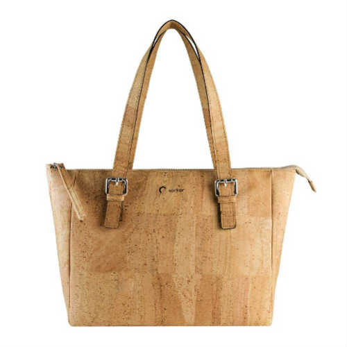casual handbag, cork handbag, corkor handbag, cruelty free handbag, durable handbag, faux leather handbag, handbag, light brown handbag, non leather handbag, satchel, vegan handbag