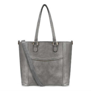 faux leather handbag, faux leather tote, grey handbag, grey tote, non leather handbag, non leather tote, vegan, vegan handbag, vegan tote, yolando handbag, yolando tote