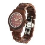 red watch, wooden watch, wooden men watch, vegan watch, unisex watch, organic watch, ab aeterno watch