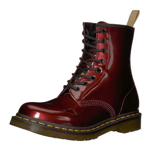 dr martens boots, vegan doc martens, vegan shoes, vegan boots, dr martens combats, combat boots, wine boots