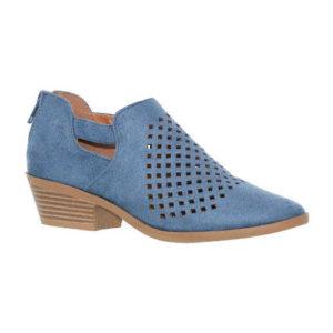 blue boots, cutout boots, vegan shoes, vegan boots, vegan leather, low heel boots, ankle boots
